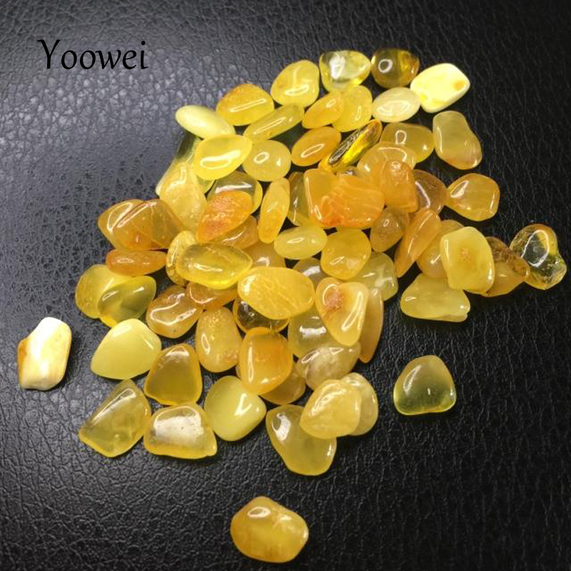 цена на Yoowei Natural Amber Beads for Etsy diy Irregular Loose Beads Baltic Original Amber Chips Bead Supplier No Holes for Collection