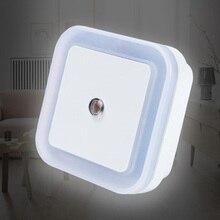 art Lighting In White Yellow Blue Red newest LED night light Control Auto Sensor Light For Home Indoor AC110V 220V EU US