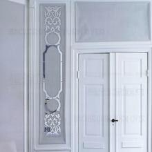Mirror Wall Stickers Room Decoration Home Decor Luxury Retro Vintage Royal Palace Column Pillar Frieze Listello Border R201