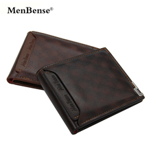 Mens Wallet Luxury Leather Wallets Slim Purses Cartera Hombre MenBense No Zipper Fashion Solid Purse Smart Card Holder Coin Bag