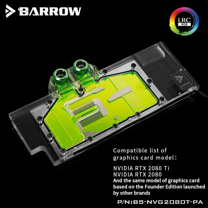 Курган водяной блок использовать для NVIDIA RTX 2080Ti/2080 основателей Edition/Reference Edition/полное покрытие блок GPU поддержка Backplate RGB