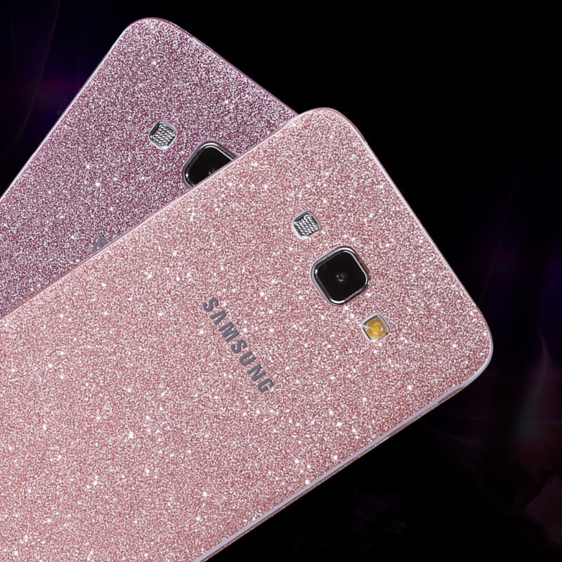 Glitter Mat Strass Autocollant Pour Samsung Galaxy A3 A5 A7 A8 A9 2015 2016 2017 Couleur Retour Protecteur D'écran Flim