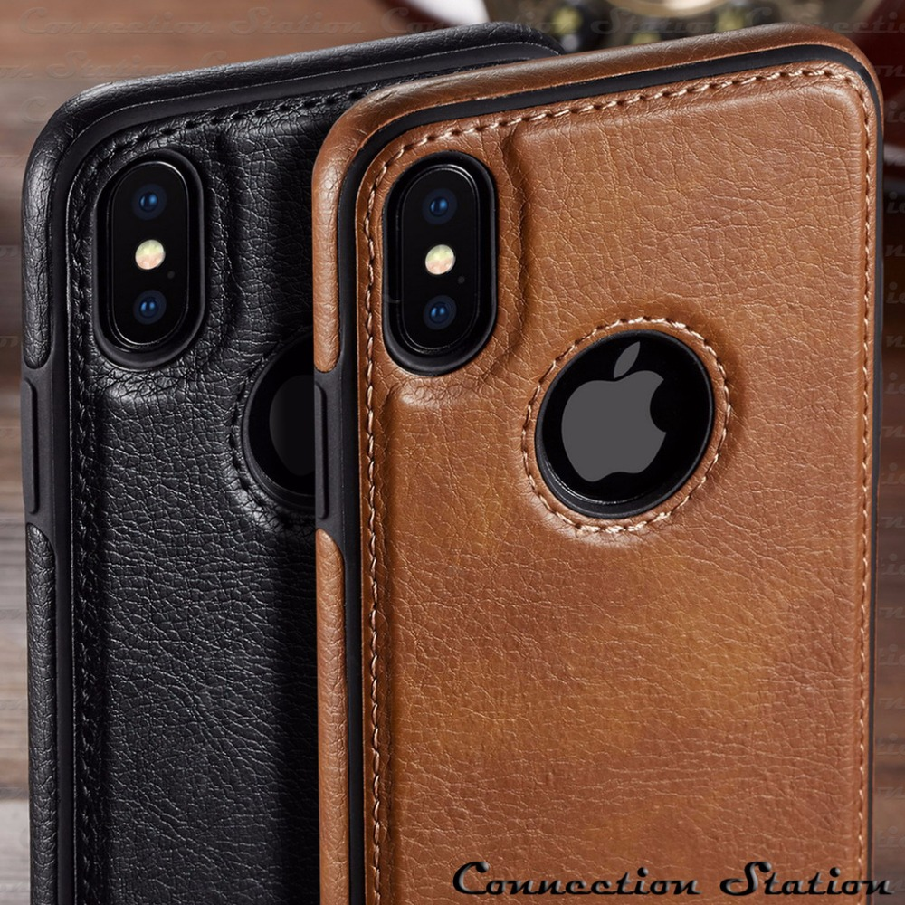 For iPhone XS Max XR  Case  Luxury Vintage PU Leather Back Ultra Thin Case Cover for iphone X 8 7 6 6S Plus Case(China)