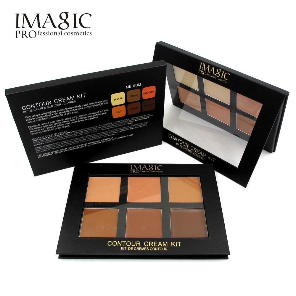IMAGIC 6 Colors Concealer Cream Contour Palette Kit Pro Makeup Palatte Concealer Face Primer Net 30g