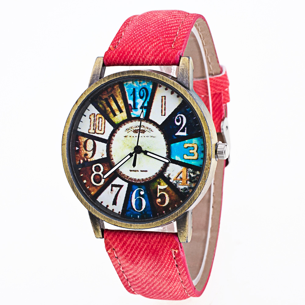 New Wrist Watch Men Top Cowboy Leather Casual Fashion Watches For Women Retro Creative Clock Display Stainless Steel Dial
