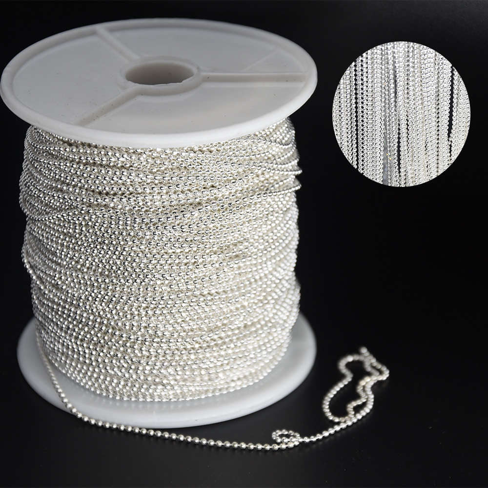 Swagpick Lot 88meter/roll 1.2DC Silver Color Metal Chain Jewelry Finding Marking Chain DIY Nail Art Decorations Wholesale free shipping imitation pearls chain flatback resin material half pearls chain many styles to choose one roll per lot