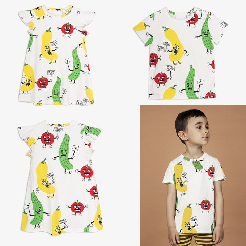 2018 New Fashion Boys T-shirt Kids Tops Tee Baby Girls Fruit Printing T Shirts Cotton Short Sleeve Children Tshirt Bobo Choses