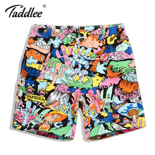 Taddlee Brand Men Swim Board Shorts Trunks Surf Swimming Beach Shorts Swimwear Swimsuits Men's Running Sports Bermuda Outdoor
