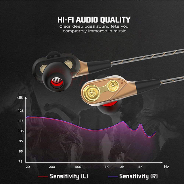 Dual Drive Stereo earphone