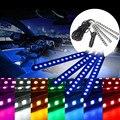 4x Impermeable IP65 14.4 W 5050smd LED Car Auto Luces de Ambiente 12 LED Interior Del Coche de la Tira Flexible de Neón Luces de Barra de La Lámpara DC12V