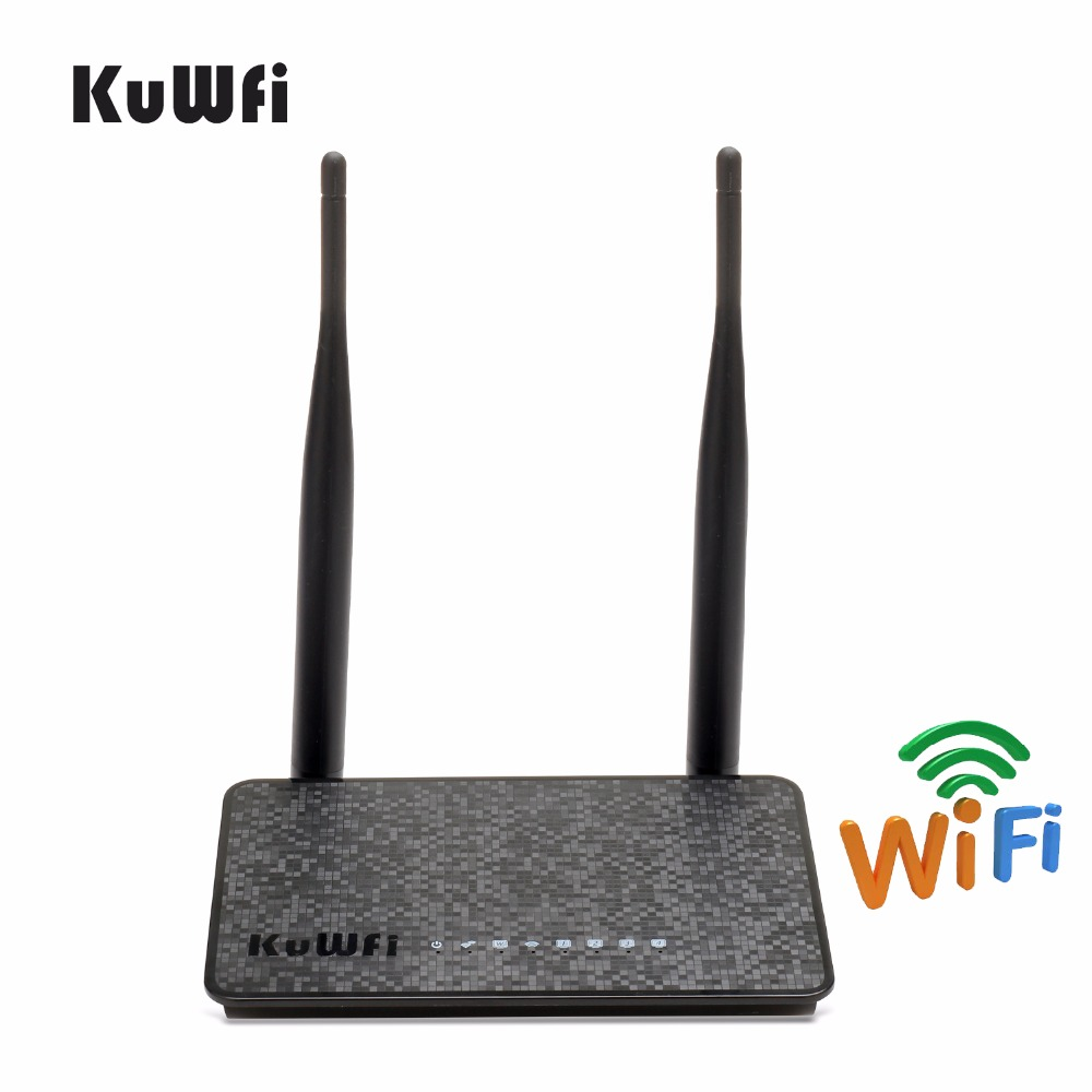 KuWfi 802.11n 300Mbps Wireless Router Wifi Extender With 2/5dBi Antenna Enhance Wifi Signal Wireless AP Router Wifi Amplifie
