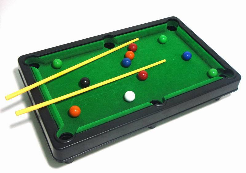 Captivating New Children Mini Billiards Games Plastic Small 6 In 1 Functional Household Billiards  Table Games For