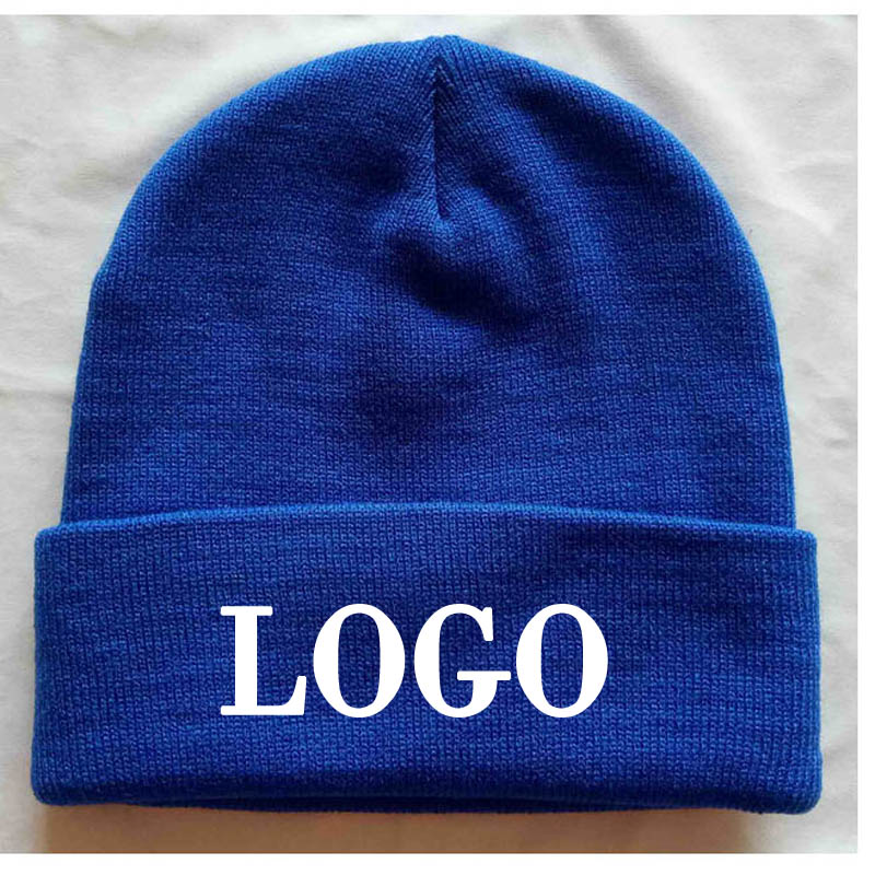 f9dea08da03ce Detail Feedback Questions about 10pcs Wholesale Blue beanies Adult Elastic  Winter Warm cap stitch logo Skullies   Acrylic Beanies Custom Letters  Apparel ...