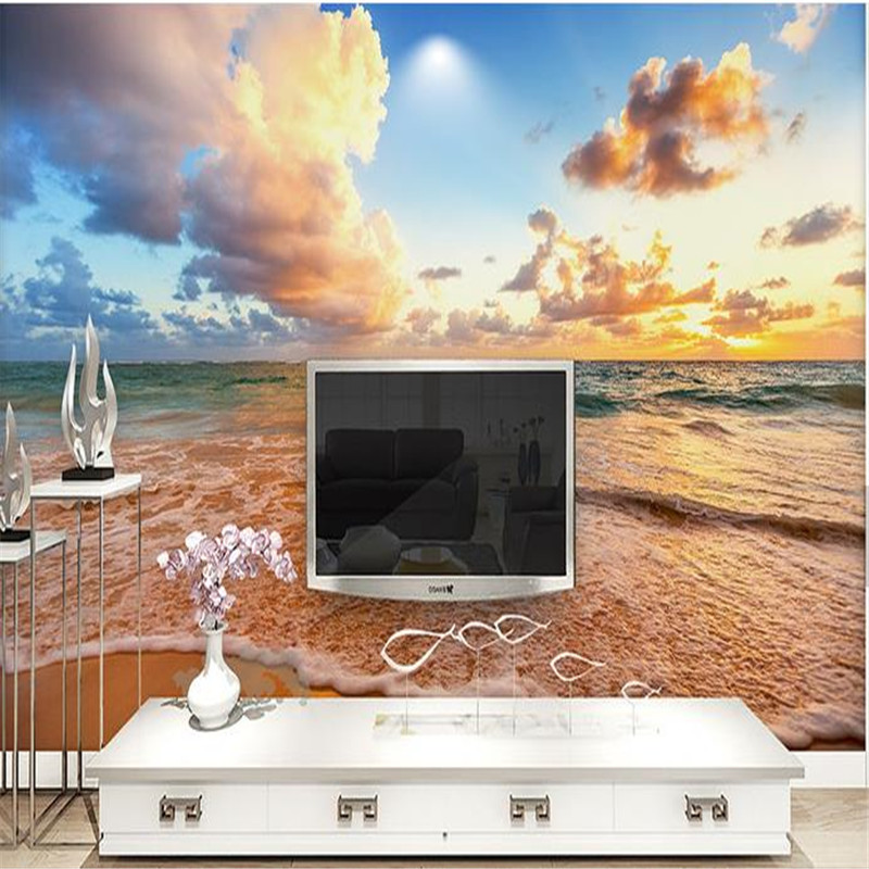 Custom Photo Murals Nature Landscape Wallpapers for 3D Walls Papers Blue Sky Scenery Murals for Living Room Bedroom Home Decor blue sky чаша северный олень
