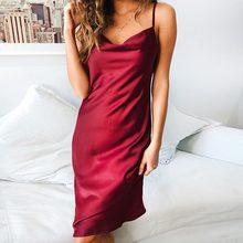 35a987d3c8cc5 Popular Satin Midi Dress-Buy Cheap Satin Midi Dress lots from China ...