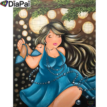 DIAPAI 5D DIY Diamond Painting 100% Full Square/Round Drill Beauty oil paintingDiamond Embroidery Cross Stitch 3D Decor A21911