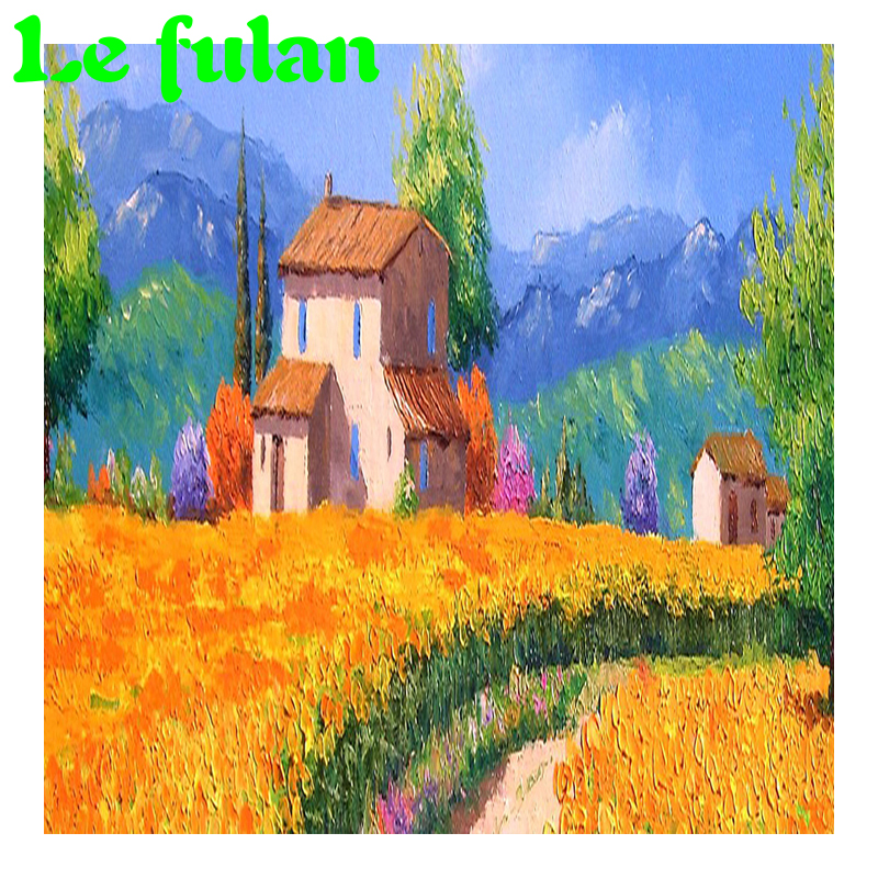 Full Diamond Embroidery Cottage In Wheat Field Diy Diamond Painting European Style Picture Decoration For Home A Good Hobby Gift