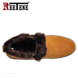 Image 2 - REETENE Winter Boots Men 2018 Warm Snow Boots Men Casual Snow Boots Men Plush Zipper Winter Shoes Men Slip On Fur Male Shoes