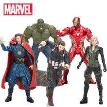 17-20 см Marvel игрушки Мстители 3 Бесконечная война фигурка капитан Халк Железный человек Тор Доктор Стрэндж чудо женщина Коллекционная модель куклы