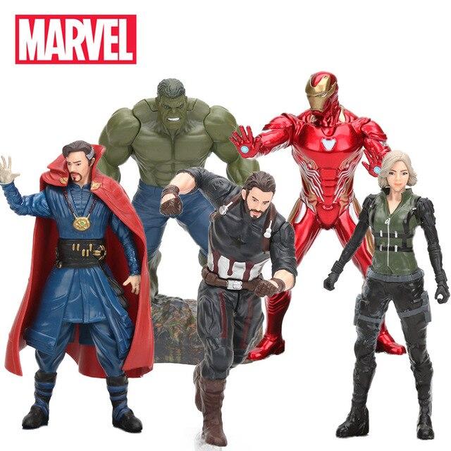 17-20cm Marvel Toys Avengers 3 Infinite War Figure Captain Hulk Ironman Thor Doctor Strange Wonder Woman Collectible Model Doll