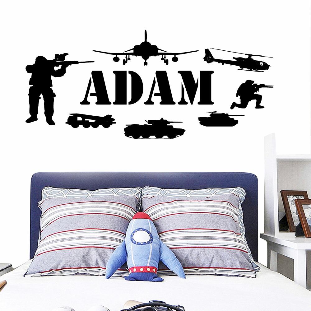 Delicate Navy Seals Custom Name Home Decoration Wall Stickers Art Decor For Babys Rooms  Murals Bedroom Waterproof