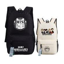 Nueva bts bangtan niños impresión mochila escolar mochilas de lona de las alas para adolescentes laptop back pack mochila feminina