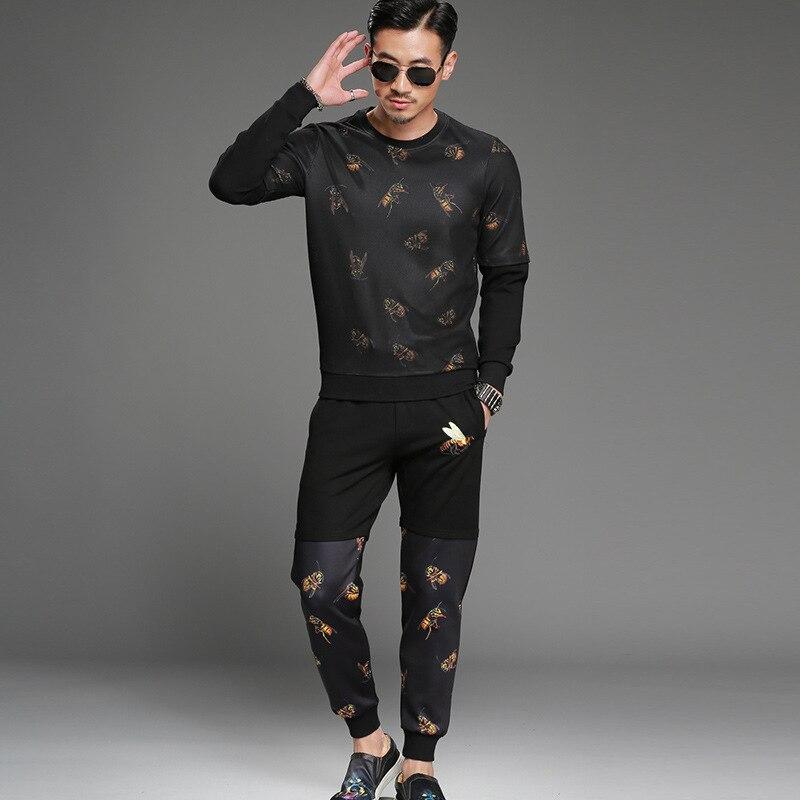 Mens Sweatshirt Mens High-end Fashion Personality Moletom Skate Leisure Plus Size Hip Hop Hoodies Men Suit Track Men