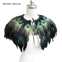 Luxury Warm Winter Peacock Feather Wedding Fur Coats 2017 for evening dress Shrug Bridal Boleros Capes coprispalle sposa YB10