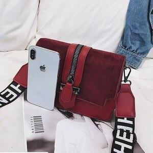 Image 4 - 2019 yeni mini çanta kadın moda ins ultra yangın retro geniş omuz askısı askılı çanta çanta basit stil Crossbody çanta
