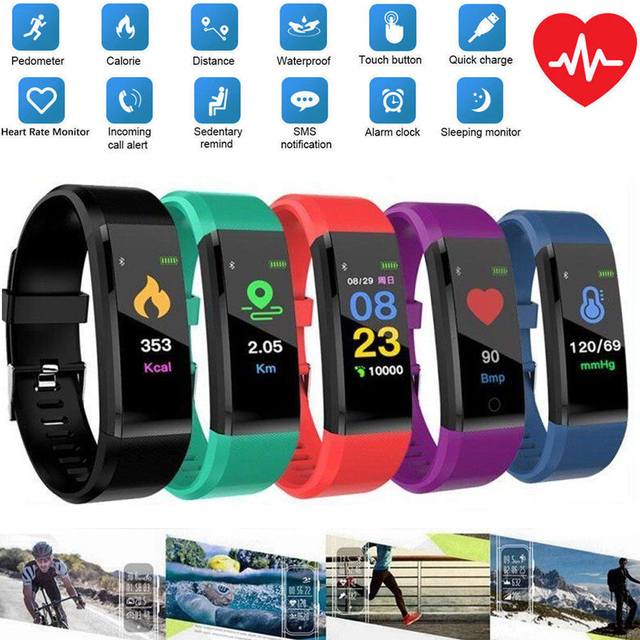 NEW Smart Wristband Sport Bracelet for Kids with Heart Rate Monitor Bluetooth Waterproof Smart Watch for iPhone Android Phone