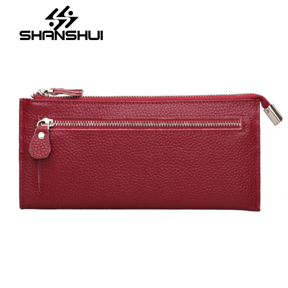 New Classical Genuine Leather Wallets Vintage Style Women Wallet Fashion Brand Purse Card Holder Wallet Long Clutch Carteira women wallets genuine leather wallet purse casual long business clutch embossed men brand wallets carteira masculina billeteras