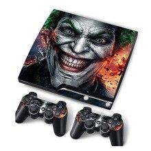 JokerผิวไวนิลสำหรับPS3 Slimคอนโซลสติกเกอร์สำหรับPS3 Slim Controllers Controle Gamepad Mando Decal