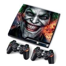Skóra winylowa Joker na konsolę PS3 Slim naklejka na konsolę PS3 Slim Controle Gamepad Mando naklejka