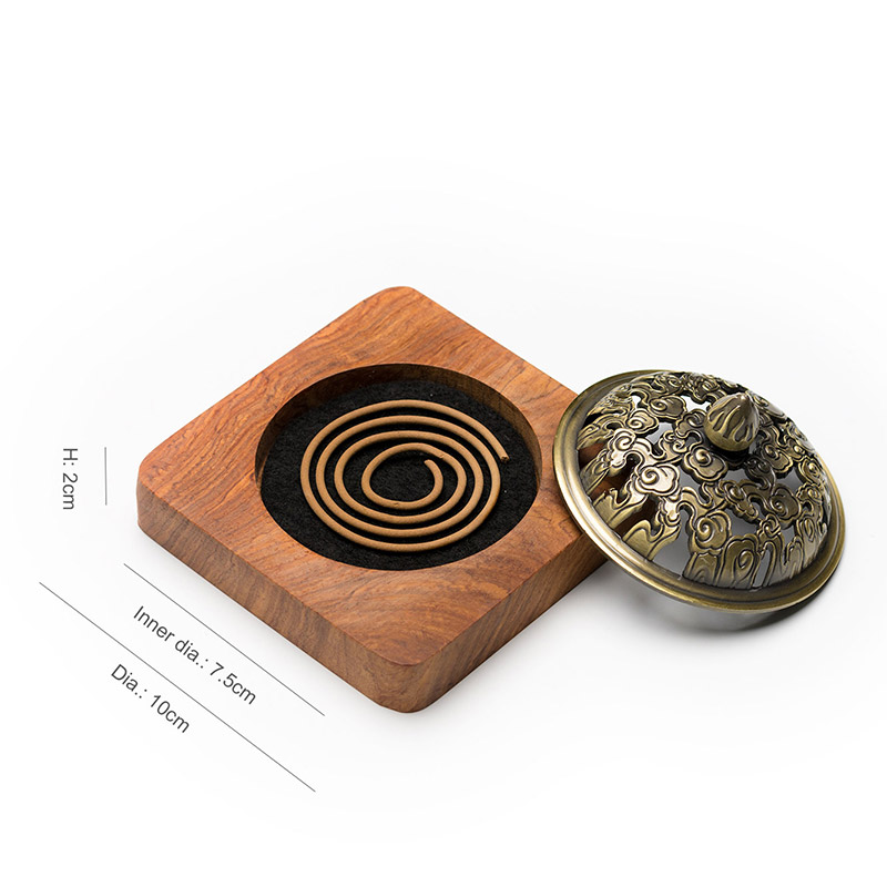 PINNY 2 And 4 Hours Coil Incense Burner Rosewood Incense Base Whole Wood Carving Wooden Crafts Home Decoration Sandalwood Censer in Incense Incense Burners from Home Garden