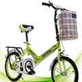 16-Polegada Bicicleta Dobrável Freio Traseiro Branco Vermelho Verde Azul Luz Esportes & Lazer Ciclismo Bicicleta