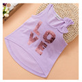 4T to 5T kids girls sequined letter short front long back stylish vest t shirts children cotton casual bow t-shirt  tops