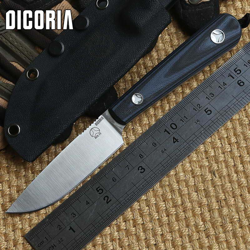 DICORIA Scout D2 blade G10 handle fixed blade straight knife KYDEX Sheath camping outdoor survival tactical knives EDC tools new fox fixed d2 blade knife with kydex sheath g10 handle survival knives hunting tactical knifes camping outdoor tools k216