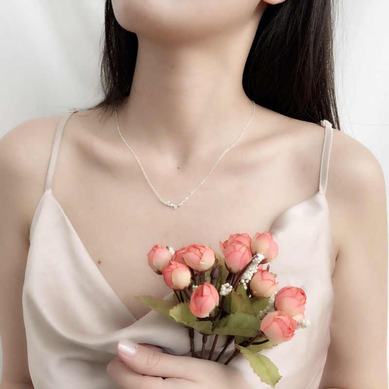 อินเทรนด์ Sliver สี Ginkgo Leaf จี้สร้อยคอผู้หญิงขนาดเล็กกระชับดอกไม้ Clavicle Chain แฟชั่นอุปกรณ์เสริมของขวัญ