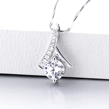 CHEESTAR JEWELS Fine sterling silver jewelry 925 silver woman pendants only new design with round 6.5mm CZ stones no chains