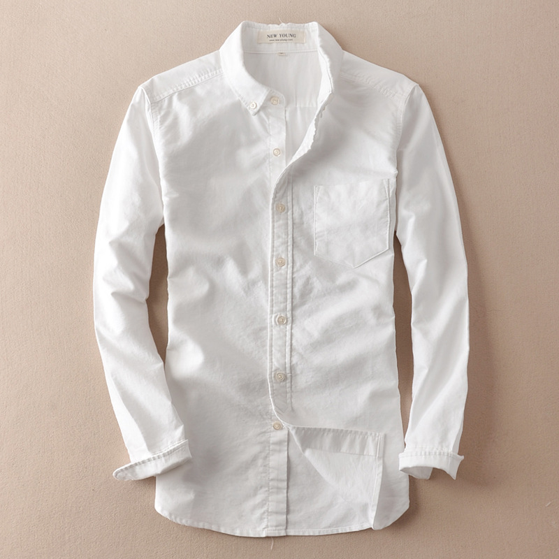 ae21d3983d Stylish Mens Solid Linen Shirts Slim Fit Long Sleeve White Soft Clothes  Summer Beach Vacation Shirt