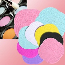 Silicone Makeup Brush Cleaner Pad Washing Scrubber Board Cleaning Mat Tool New