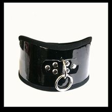 Leather sex Collar Fetish Collar Sub chastity Leather Neck slave Collar for Men or Woman M084
