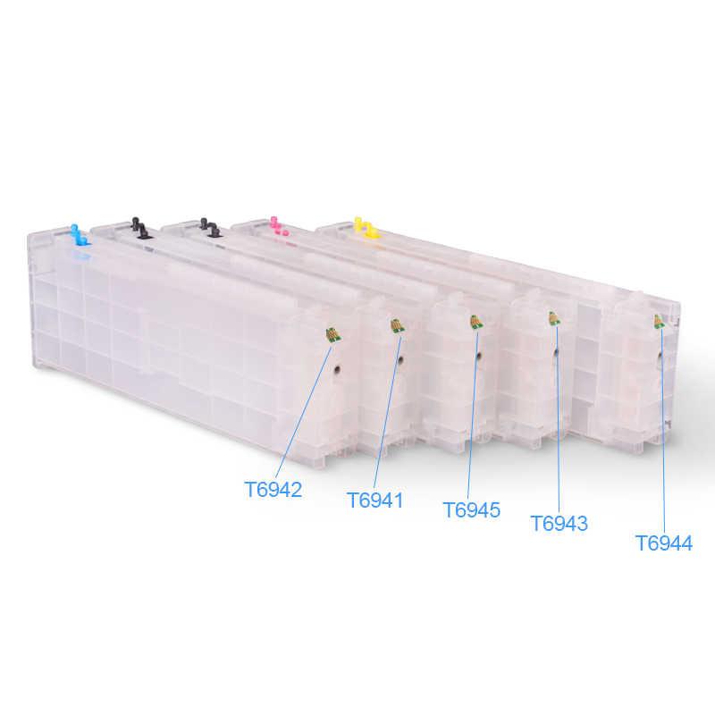 Upgrade T6941-T6945 T6941 Cartridge Chip untuk SureColor T3000 T3070 T3200 T5200 T7200 T3270 T5270 T7270 (5 Pilihan Warna)