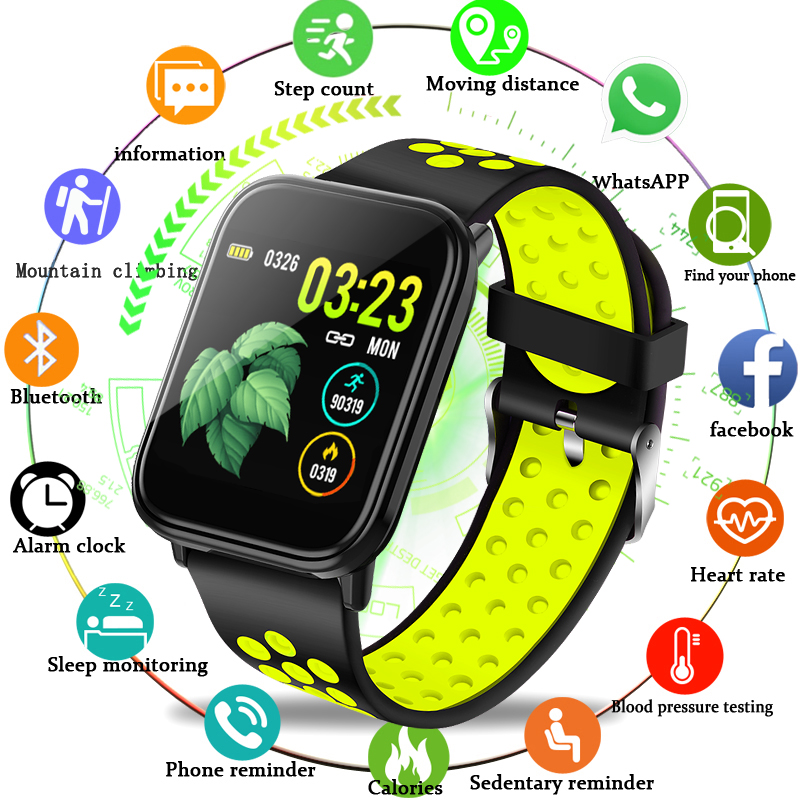 BANGWEI Smart Watch OLED Color Full Screen Touch Screen Yellow fashion smart sports watch Blood pressure heart rate monitor BandBANGWEI Smart Watch OLED Color Full Screen Touch Screen Yellow fashion smart sports watch Blood pressure heart rate monitor Band