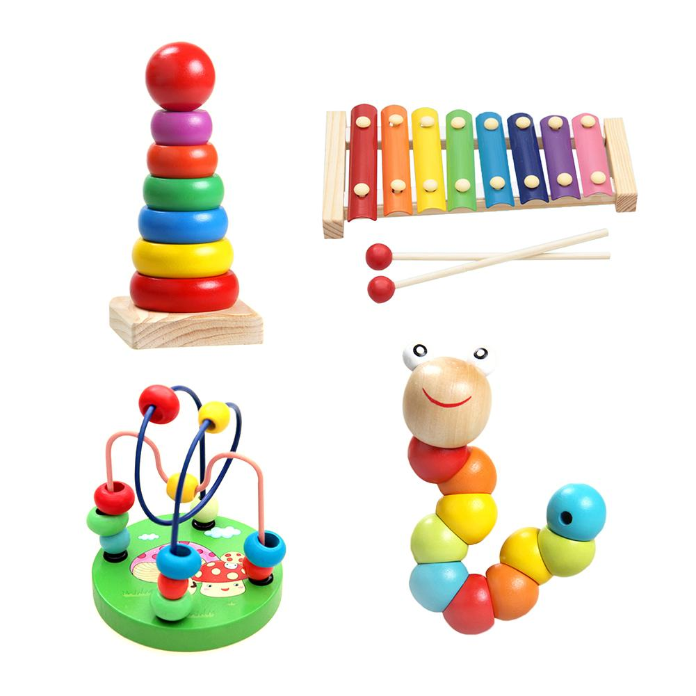 4pcs/set Early Childhood Educational Toys Boy Girl Wooden ...