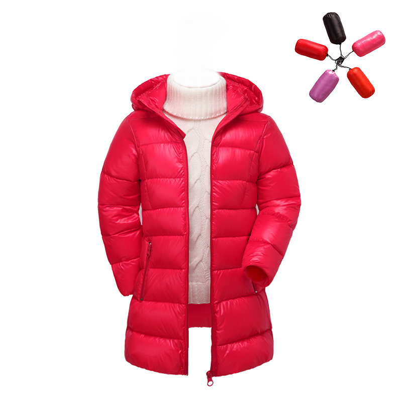 2017 new girls winter jacket children's clothing long outerwear 90% white duck down coats kids solid hooded warm thicken parkas 2016 new brand child girls winter white duck down jackets coats thick hooded outwar waistband kids girls warm down jacket parkas