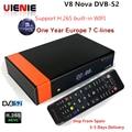 GTMedia V8 Nova DVB-S2 Freesat satelliten-receiver + 1 jahr Europa Spanien Portugal Deutschland Polnisch 7 clines gleiche wie v8 super