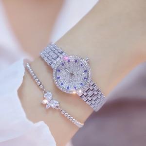 Image 2 - Kadın saatler ünlü lüks markalar elmas gümüş kadın kol saati küçük arama bayanlar bilek saatler Relogio Feminino 2020