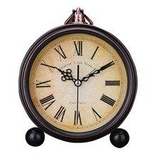 Alarm Clock Retro Mute Pointer European Pastoral Simple Luminous Bed Metal Home Decoration