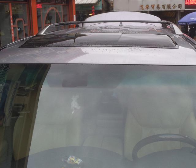 Alta quakity Techo Solar lluvia deflectores tiempo gruard shdows Acrílico escudos para Lexus LX470 accessoires 2002 ~ 2004